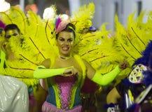 Espagnol Carnaval chez Sitges dans la soirée Photos stock