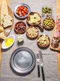 Espagnol délicieux Tapas Food Image stock