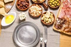 Espagnol délicieux Tapas Food Photographie stock