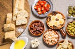 Espagnol délicieux Tapas Food Photos stock