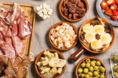 Espagnol délicieux Tapas Food Photographie stock libre de droits