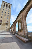 Espagnol dans le monastère de Santa Maria de Montserrat Photo stock