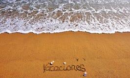 Espagnol de connexion de vacances Images libres de droits