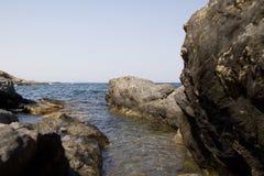 Espagnol de la mer Méditerranée de côte Photos stock