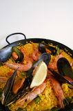 Espagnol de riz de Paella Photographie stock libre de droits