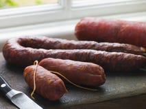 Espagnol de sélection de saucisses Photo libre de droits