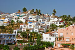 Espagnol de solénoïde de costa del landscape nerja Photographie stock libre de droits