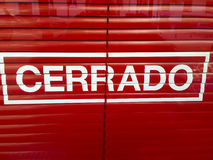 Espagnol fermé de connexion Photo stock