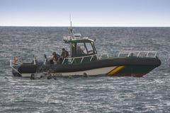 Espagnol Guardia de bateau de sauvetage civil Image libre de droits