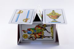 Espagnol jouant des cartes Images libres de droits