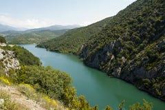 Espagnol Pyrénées de Panta D'Escala Photographie stock libre de droits