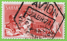 ESPAGNOL SAHARA de timbre Image stock
