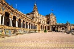 Espagnol Square Plaza de Espana à Séville, Espagne Image libre de droits