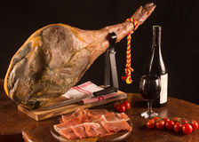 Espagnol traditionnel Jamon Photos libres de droits