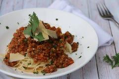 Espaguete Alla Bolonhês Imagens de Stock