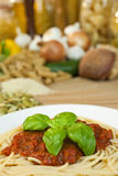 Espaguete Bolonhês Imagens de Stock Royalty Free