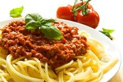 Espaguete bolonhês Fotos de Stock Royalty Free