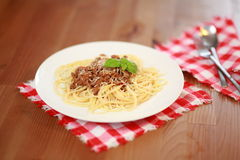 Espaguete bolonhês Foto de Stock