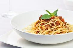 Espaguete Bolonhês Fotografia de Stock Royalty Free