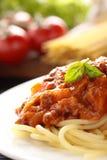 Espaguete Bolonhês. Fotografia de Stock Royalty Free
