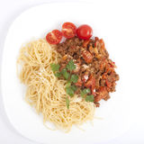 Espaguete bolonhês fotos de stock