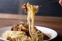 Espaguete bolonhês Fotografia de Stock