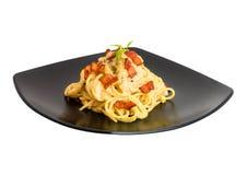Espaguete Carbonara Fotografia de Stock