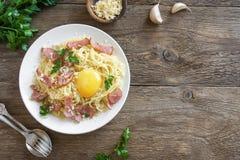 Espaguete Carbonara foto de stock