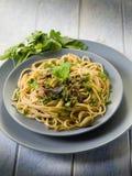 Espaguete com anchovas Fotos de Stock Royalty Free