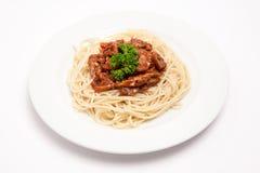 Espaguete com carne Foto de Stock Royalty Free