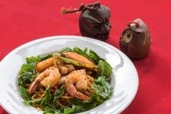 Espaguete com marisco Fotos de Stock