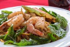 Espaguete com marisco Fotografia de Stock Royalty Free