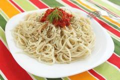 Espaguete com o molho Foto de Stock