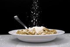 Espaguete com pesto Foto de Stock