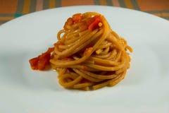 Espaguete com tomate Imagem de Stock Royalty Free