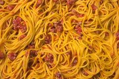 Espaguete cozinhado foto de stock