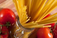 Espaguete cru Imagem de Stock Royalty Free