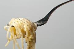 Espaguete de Carbonara Imagens de Stock Royalty Free