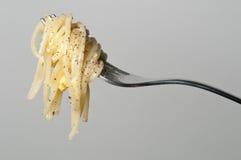 Espaguete de Carbonara Imagem de Stock