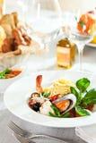 Espaguete do marisco Fotos de Stock Royalty Free