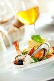 Espaguete do marisco Imagem de Stock Royalty Free