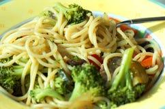 Espaguete do vegetariano Fotografia de Stock