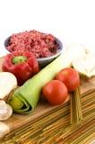 Espaguete dos ingredientes Imagem de Stock Royalty Free