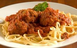 Espaguete e meatballs Imagens de Stock Royalty Free