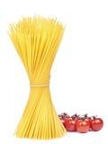 Espaguete e tomate Imagens de Stock Royalty Free