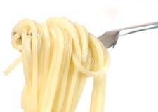 Espaguete em uma forquilha Foto de Stock Royalty Free