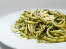 Espaguete Pesto Imagens de Stock
