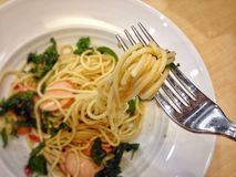 Espaguete picante Fotografia de Stock