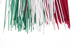 Espaguete tricolor Imagens de Stock