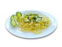 Espaguete Zucchine Imagens de Stock